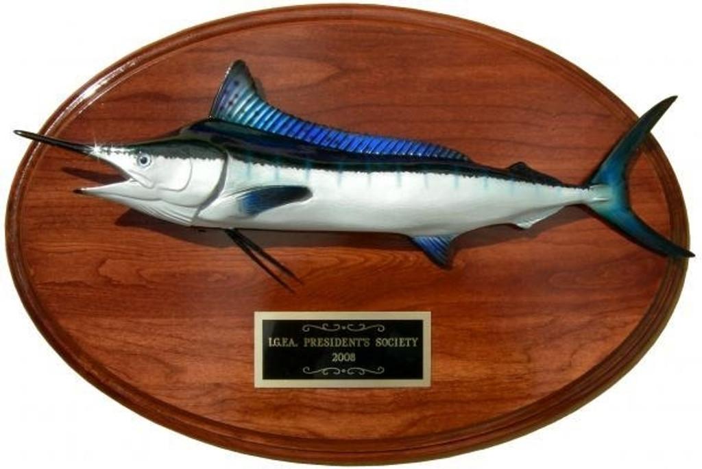 White Marlin Trophy Fish Mount