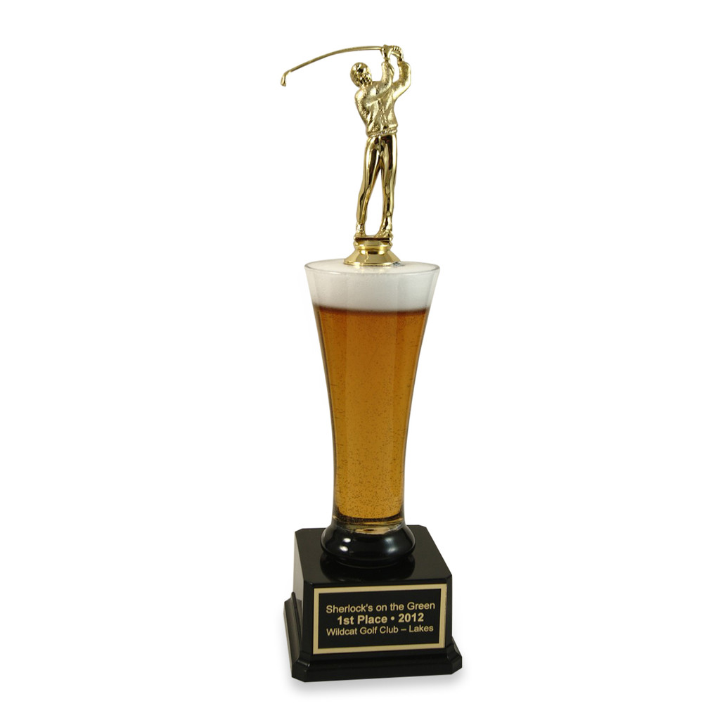 Male Golfer Pilsner Trophy