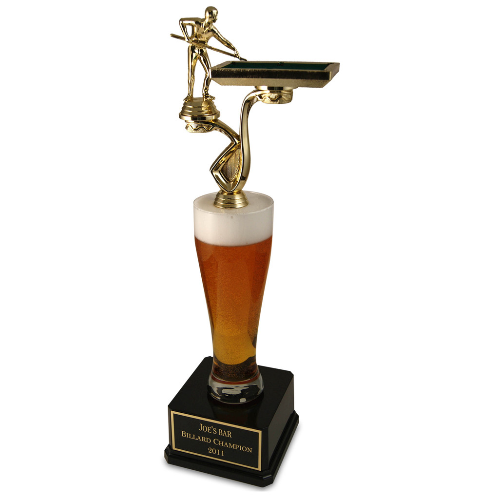 Jumbo Pilsner Beer Billiard Trophy