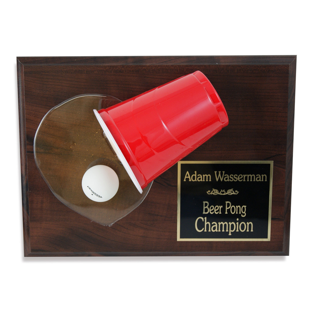 Beer Pong Plaque