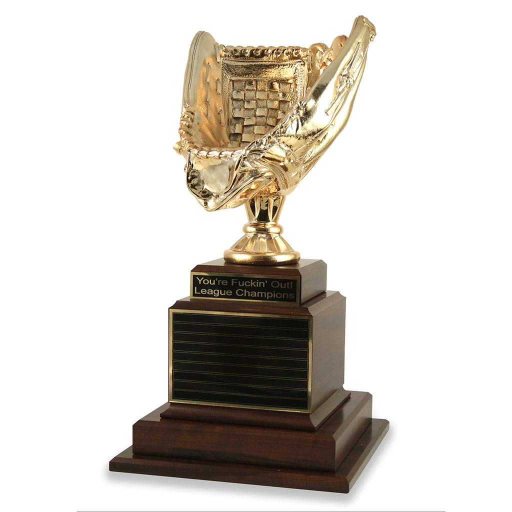 Fantasy Baseball Glove Trophy