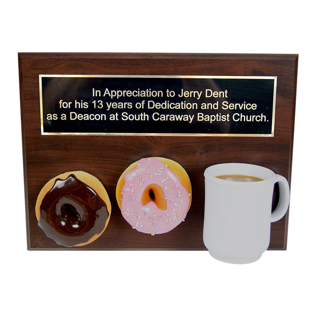 Coffee and Donut Plauqe