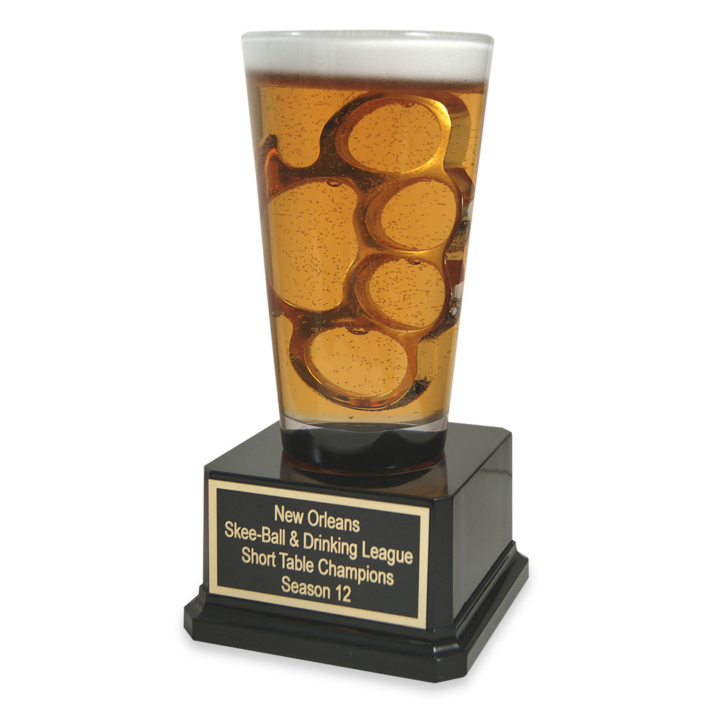 Brass Knuckles Beer Trophy