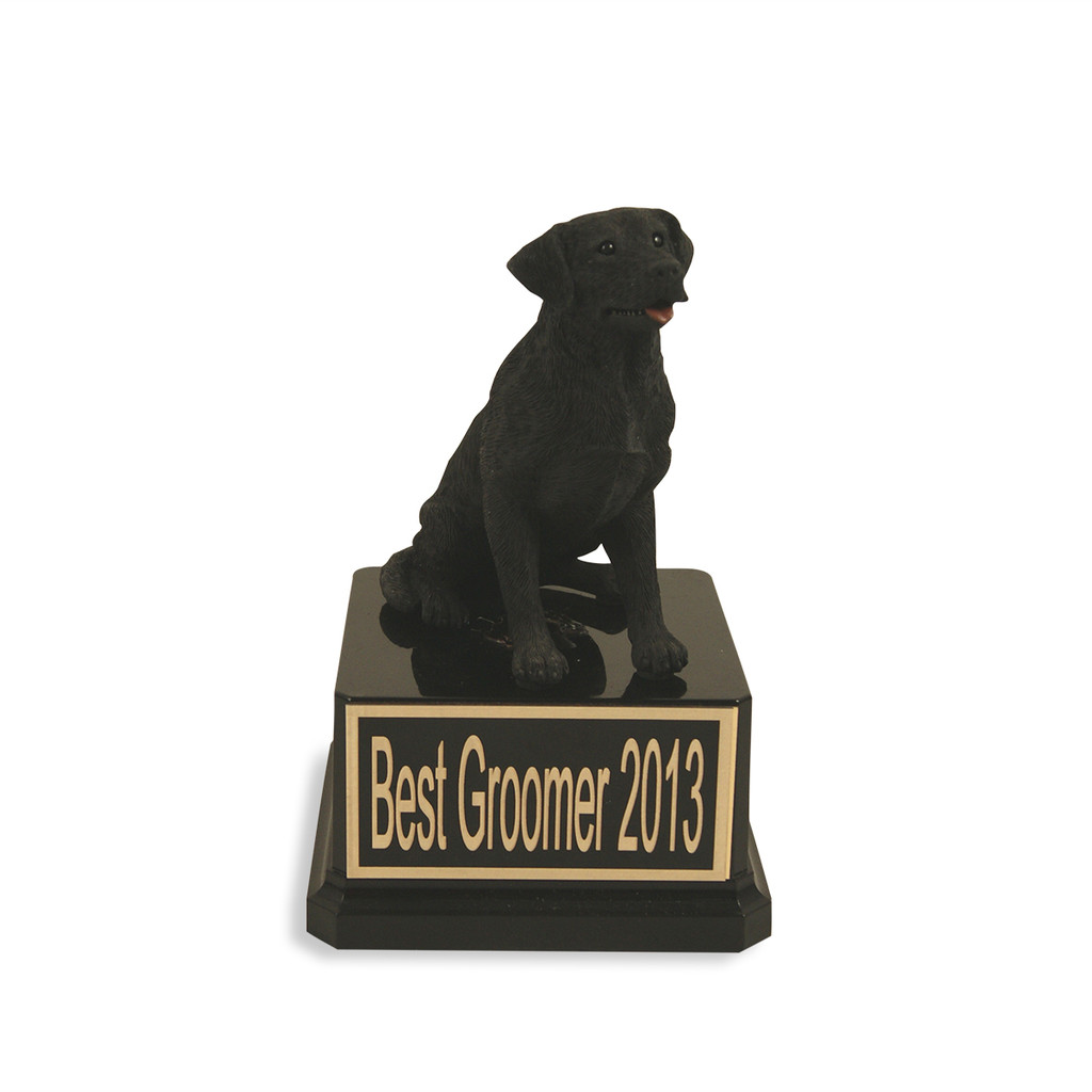 Black Lab Dog Trophy