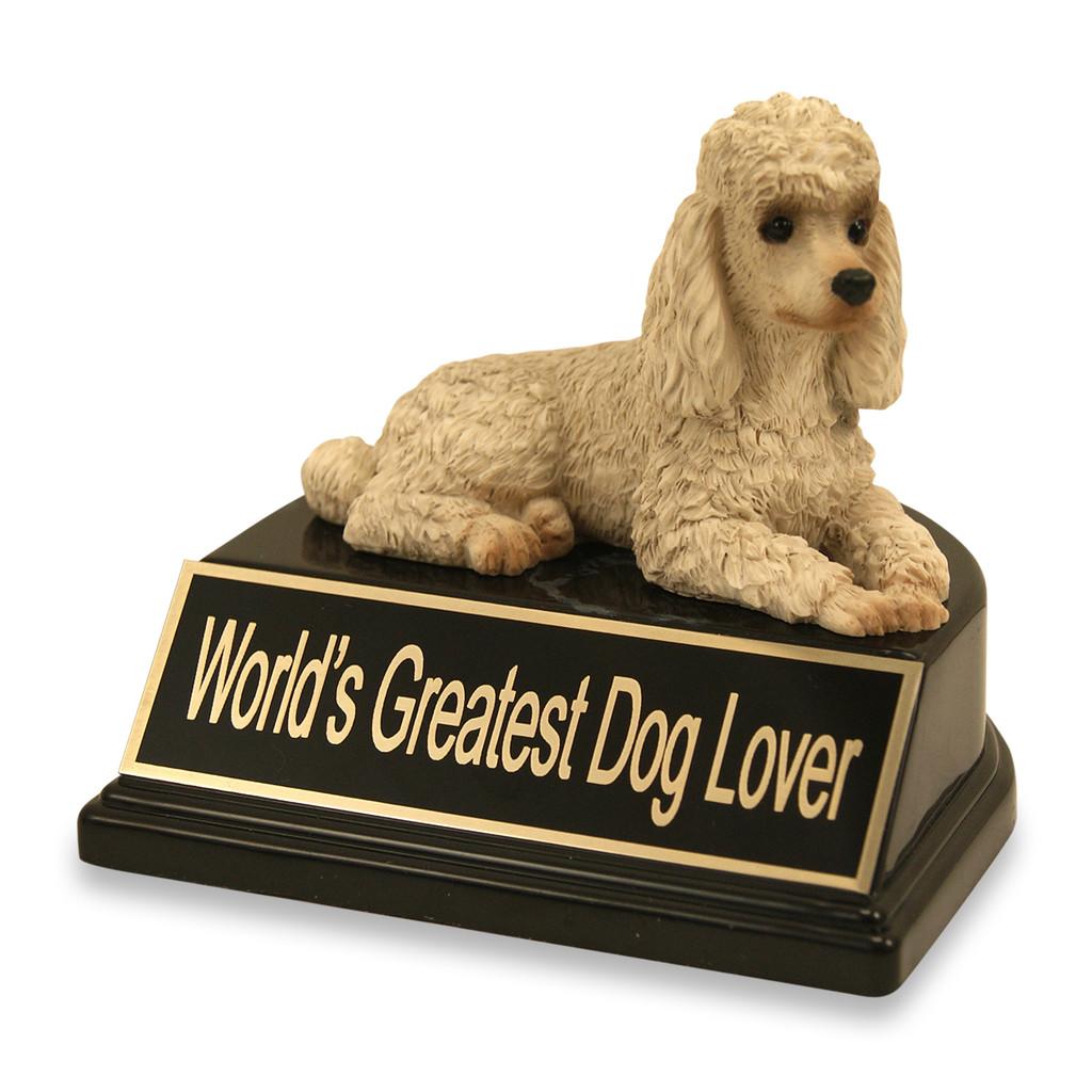 White Poodle Dog Trophy