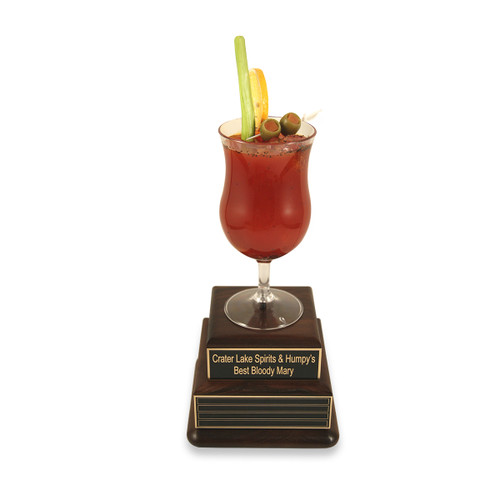 Bloody Mary Award on Perpetual Wood Bases