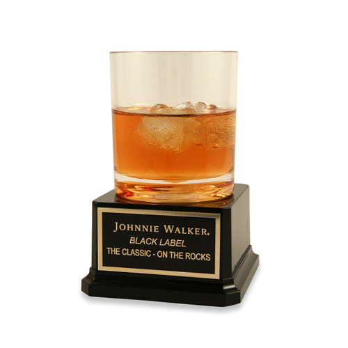 Scotch On The Rocks Trophy on Acrylic Base
