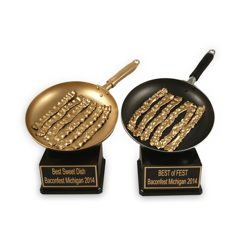 Golden Bacon Pan Trophy and Gold Bacon Trophy