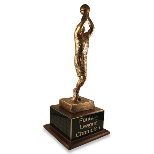 Jump Shot Basketball Trophy with Perpetual Side Plate