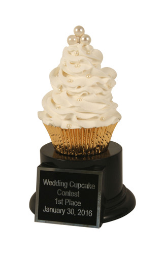 Wedding Cupcake Trophy