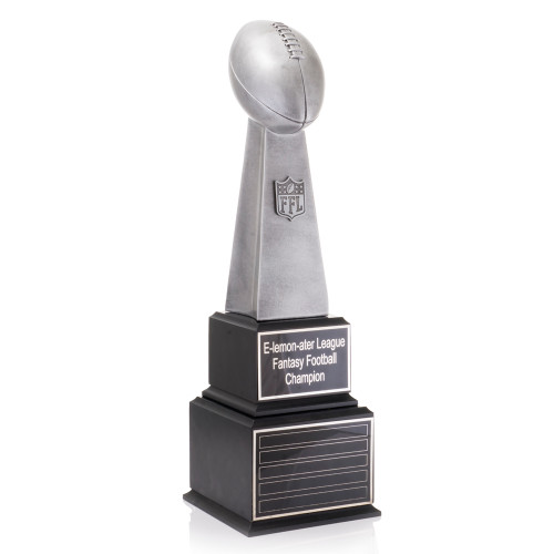 Large Perpetual Fantasy Football League Lombardi Trophy