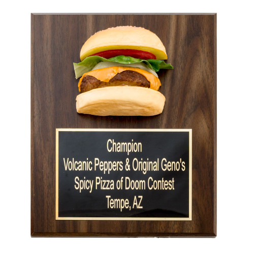 Burger Plaque Award