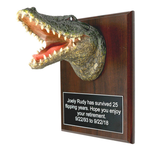 Gator Head Plaque