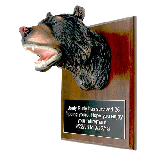 Bear Head Plaque