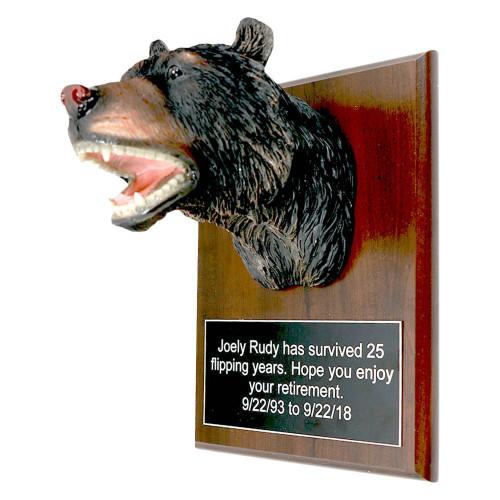 Bear Head Plaque