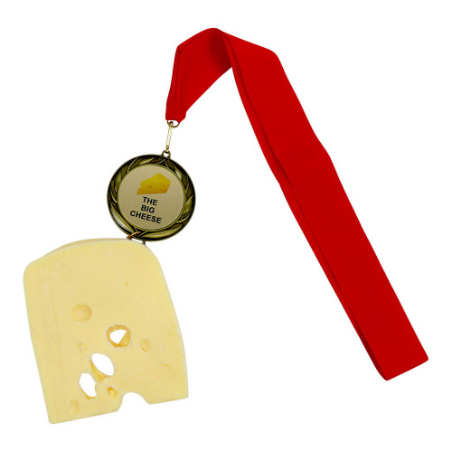 Swiss Cheese Medal with Personalized Engraving