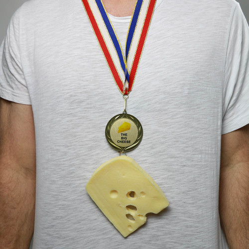 Wearing Swiss Cheese Medal
