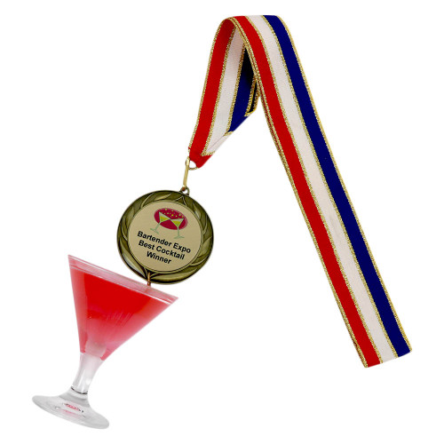 Cosmo Martini Medal with Personalized Engraving