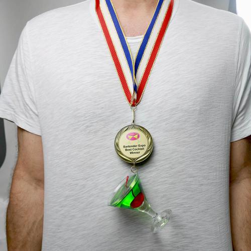 Wearing Apple Martini Medal