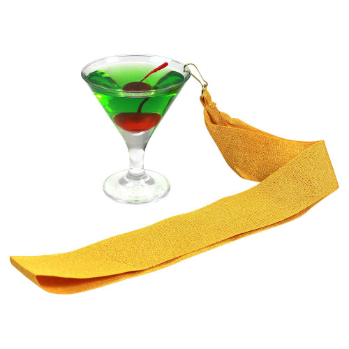 Apple Martini with Gold Ribbon