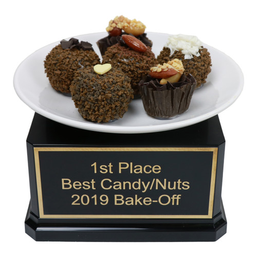 Chocolate Truffle Plate Trophy