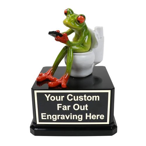 Toilet Frog Trophy