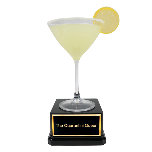 lemondrop martini quarantini trophy