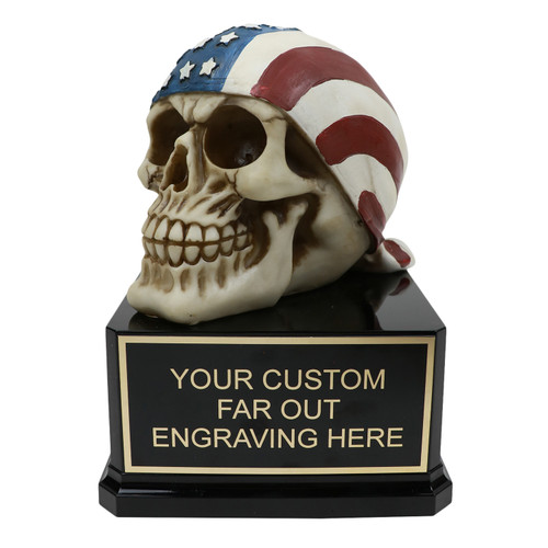 American Flag Skull Award