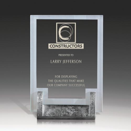 Jade Glass Desk Award