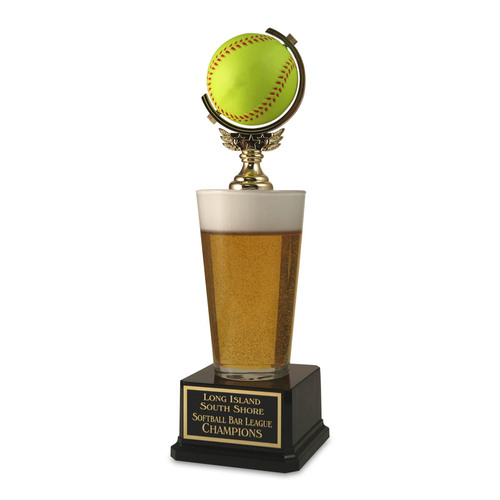 Pint Beer Softball Trophy