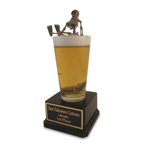 Halloween Beer Pint Bones Trophy
