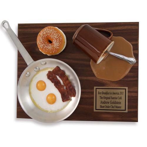 Breakfast Food Award Plaque
