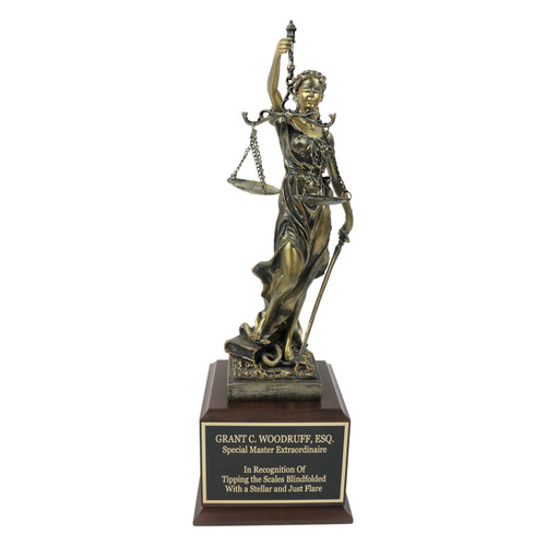 Legal Lady of Justice Trophy