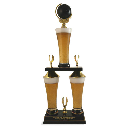 Fantasy Bowling Beer Trophy