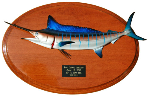 Striped Marlin Trophy Fishing Plaque