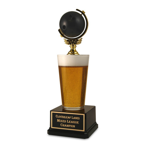 Bowling Ball Beer Trophy