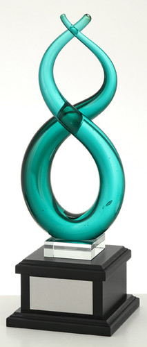 Infinity - Hand Made Glass Art Trophy