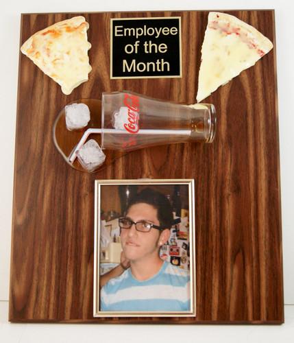 Pizza and Soda Photo Plaque