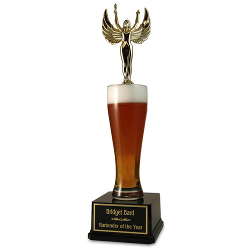 Jumbo Pilsner Beer Trophy Lady with Wings