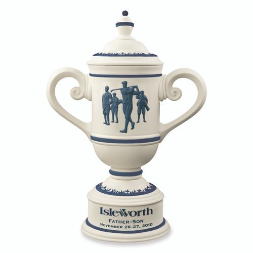 Calcutta Cup in Alabaster & Blue