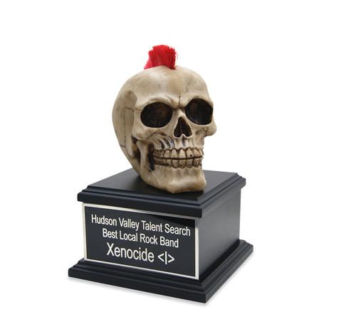 Rockin' Mohawk Skull Award