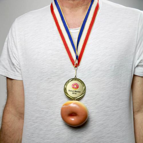 Wearing Donut Medal