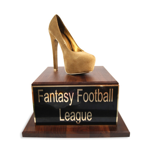 Golden High Heel Woman Shoe Trophy