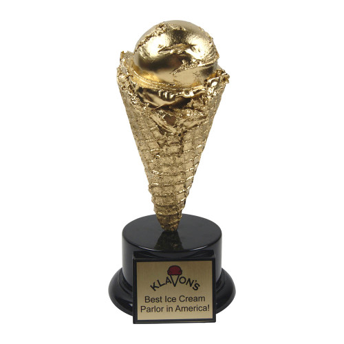 Golden Ice Cream Cone Trophy