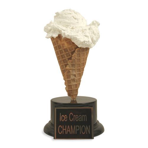 Vanilla Ice Cream Cone Trophy