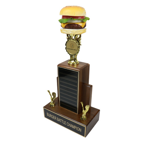 Burger Deluxe on Wood Base