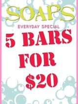 PICK 5 SOAPS