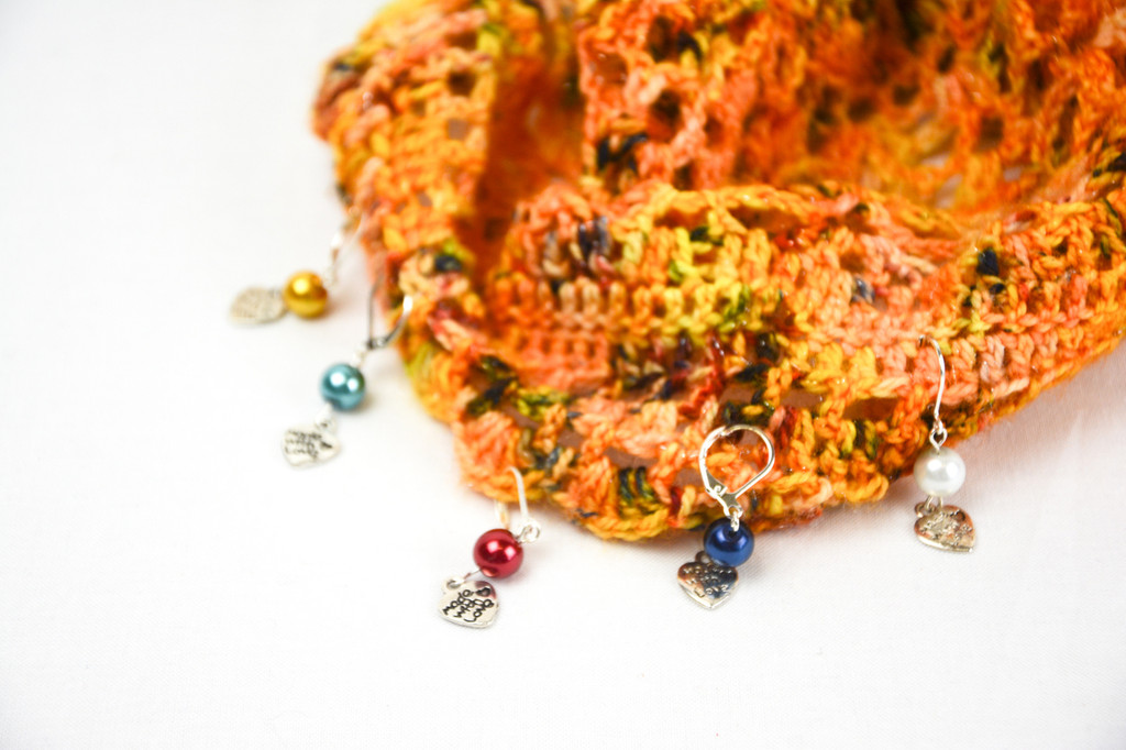 Pearlised Bead Stitch Markers