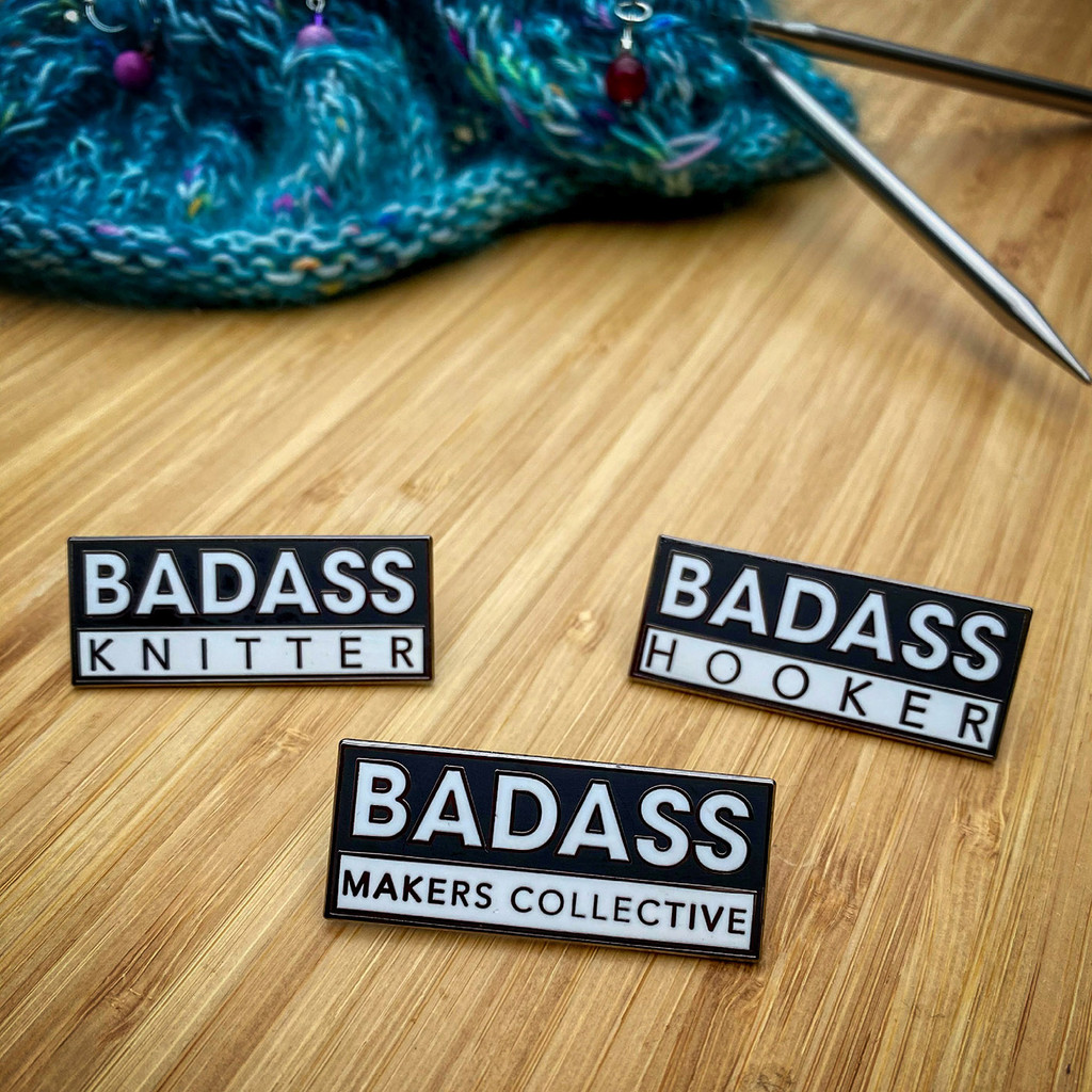 Badass pin badges