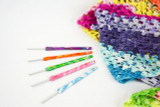 Marbled Polymer Clay Crochet Hooks